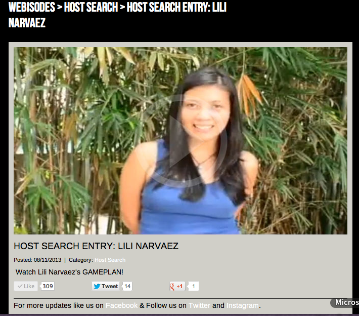 Pinayironmom.com Gameplan TV Host Search Lili Narvaez