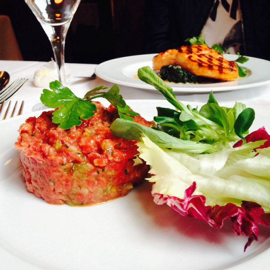 So we tried some French cuisine - Steak Tartare - made of chopped raw beef, seasoned and served cold - which amazingly tasted so good... but different!
