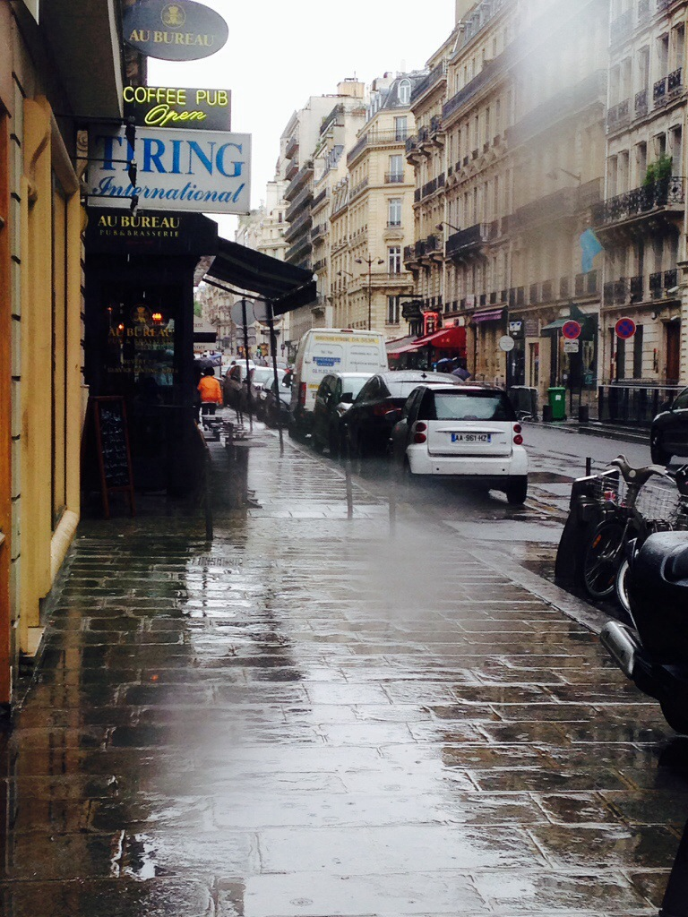 But later on I realised Paris is so romatic when it rains!