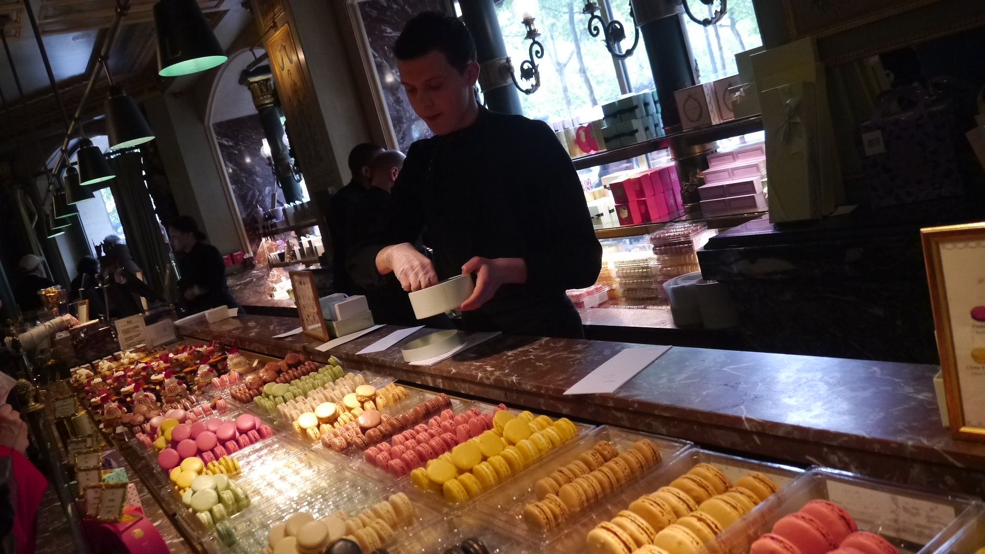 We were luckily a few steps away from dessert - Laduree in Champs Elysee